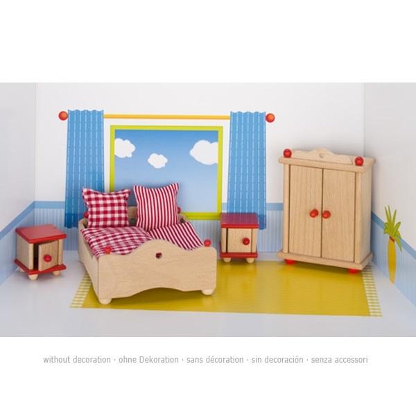 Mobiliario quarto casal para casa de bonecas - Mobiliario de casa ...